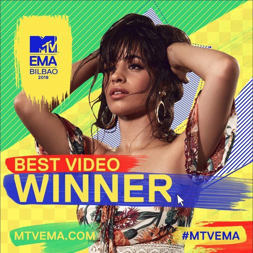 MTV EMA BILBAO 2018; CAMILA CABELLO
